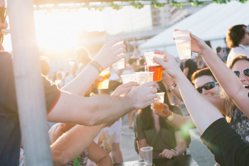 Group toasting at Beer InCider festival