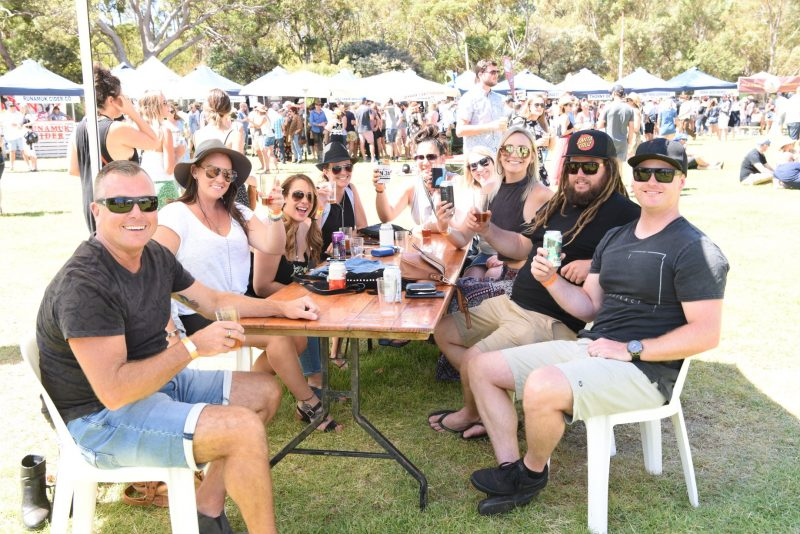 Group relaxing at Southwest Beer Festival