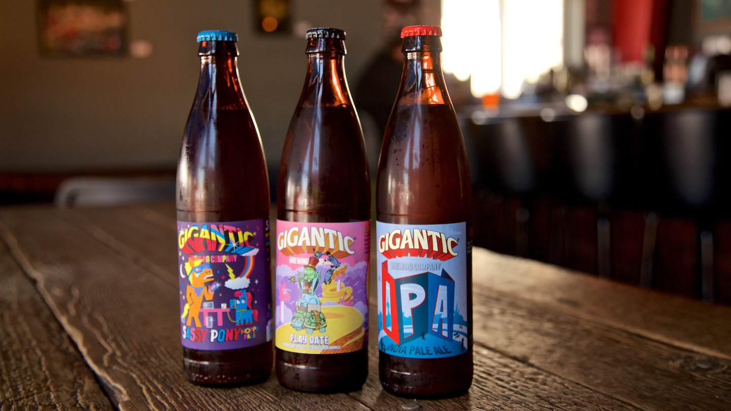 Quirky beer labels are an institution at Gigantic
