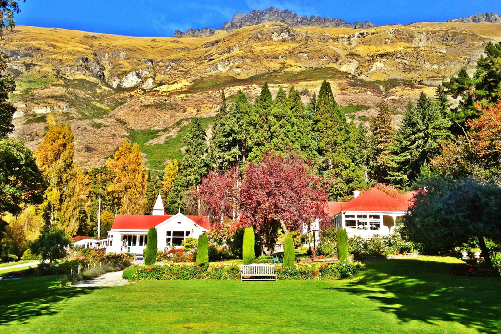Historic buildings in Arrowtown New Zealand
