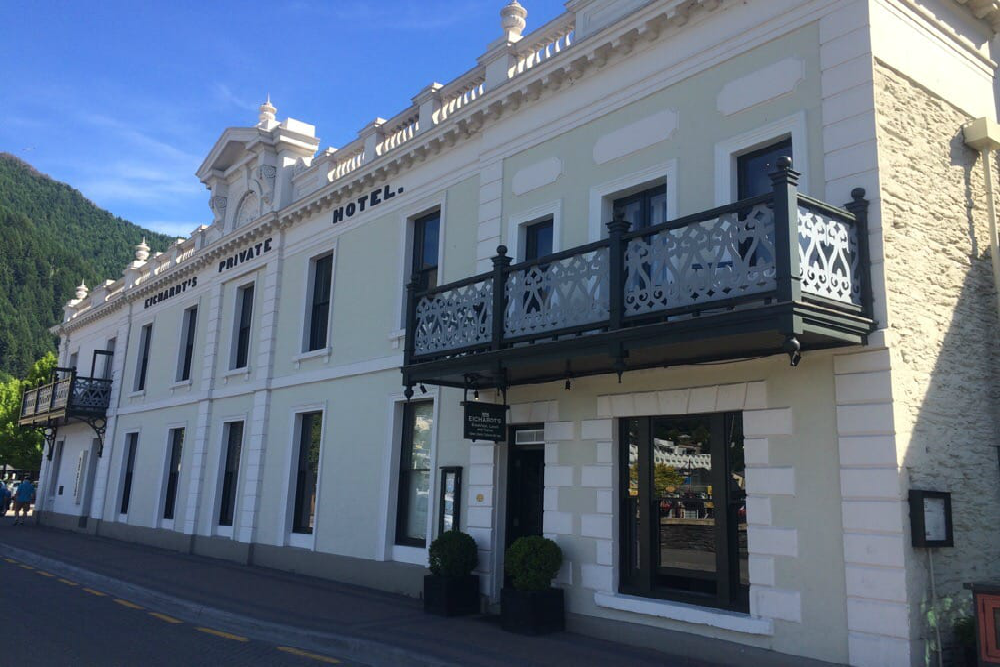 Exterior of Eichardt's Hotel in Queenstown