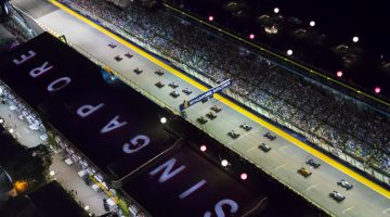 Racetrack of the Singapore Grand Prix at night