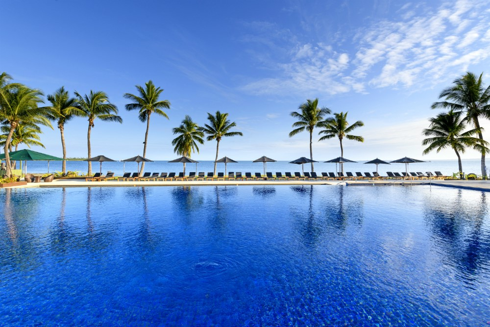 Pool area of Hilton Fiji Beach Resort