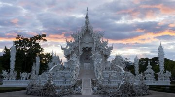 The famous white temple in Chiang Rai, Thailand