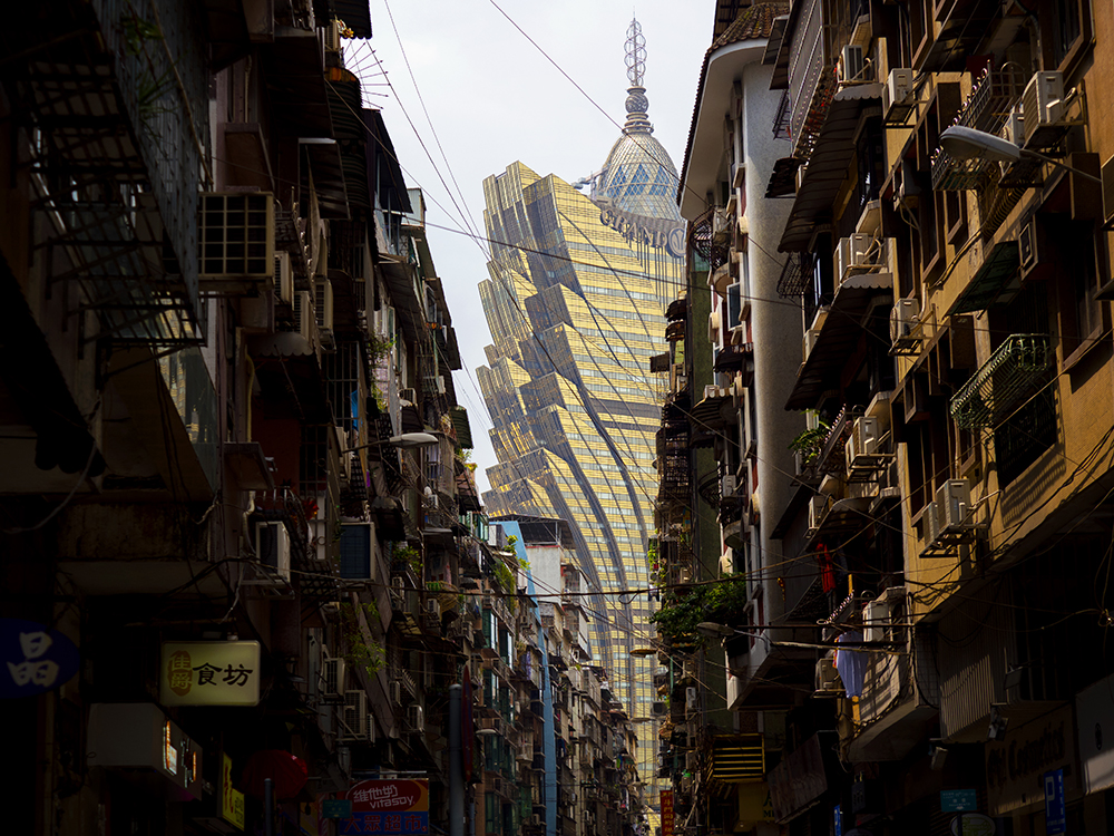 View of Grand Lisboa in Macao