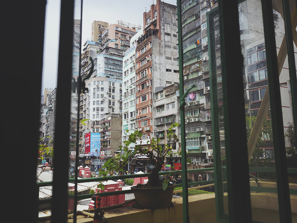 View from Long Wa Teahouse in Macao