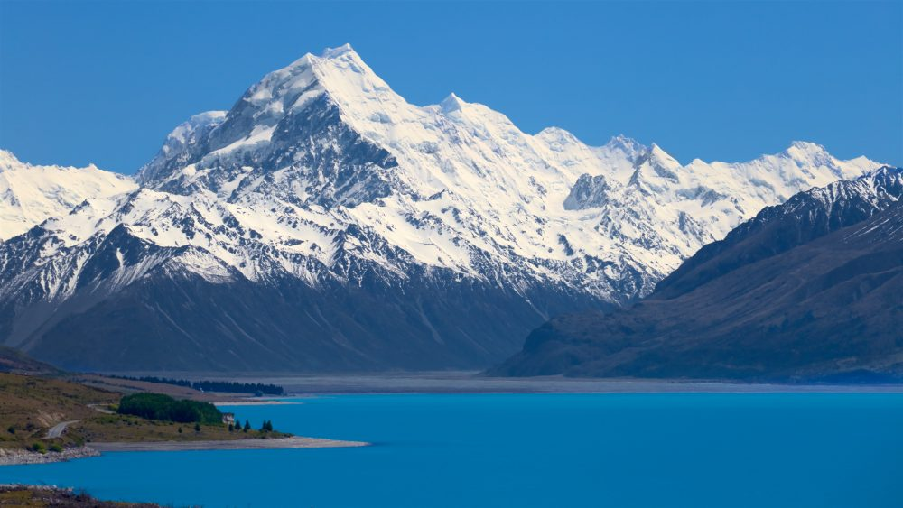 Mountain scenery at Mount Cook National Park