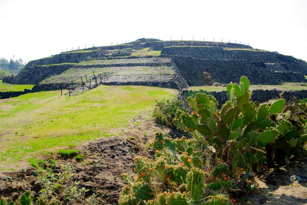 Cuicuilco archaeological site in Mexico