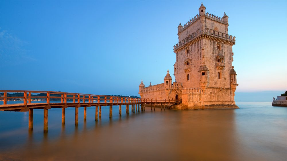 Belem Tower and coastline in Lisbon